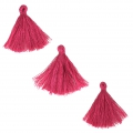 Imitation cotton tassels 26-30 mm Raspberry x10