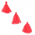 Imitation cotton tassels 26-30 mm Red Coral x10