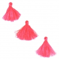 Imitation cotton tassels 26-30 mm Hot Pink x10