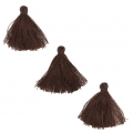 Imitation cotton tassels 26-30 mm Brown x10
