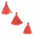 Imitation cotton tassels 26-30 mm Light Red x10