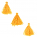 Imitation cotton tassels 26-30 mm Sunflower x10