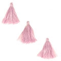 Imitation cotton tassels 26-30 mm Mauve x10