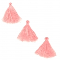 Imitation cotton tassels 26-30 mm Baby Pink x10