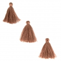 Imitation cotton tassels 26-30 mm Camel x10