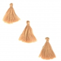 Imitation cotton tassels 26-30 mm Light Caramel x10