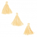Imitation cotton tassels 26-30 mm Light Yellow x10