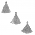 Imitation cotton tassels 26-30 mm Grey x10