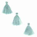 Imitation cotton tassels 26-30 mm Light Teal x10