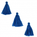 Imitation cotton tassels 26-30 mm Blue x10