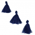 Imitation cotton tassels 26-30 mm Navy Blue x10