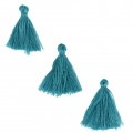 Imitation cotton tassels  26-30 mm Blue Zircon x10