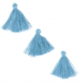 Imitation cotton tassels 26-30 mm Bleu Ciel x10