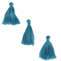 Imitation cotton tassels 26-30 mm Dark Turquoise x10
