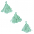 Imitation cotton tassels 26-30 mm Mint x10
