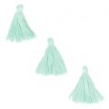 Imitation cotton tassels 26-30 mm Light Mint x10