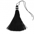 Large tassel 90 mm for decoration or jewels Black/Silver