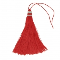 Large tassel 90 mm for decoration or jewels Red/Silver