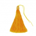 Large tassel 90 mm for decoration or jewels Sunflower/Silver