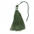 Large tassel 90 mm for decoration or jewels Olive/Silver