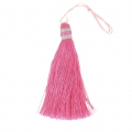 Large tassel 90 mm for decoration or jewels Pink/Silver