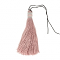 Large tassel 90 mm for decoration or jewels Vintage Pink/Silver