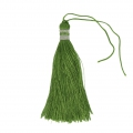 Large tassel 90 mm for decoration or jewels Green/Silver