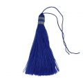 Large tassel 90 mm for decoration or jewels Blue/Silver