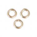 Jumprings open 4x0.8 mm 3 micron gold plated  x4