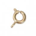 Spring clasp 6 mm with an open jumpring - 3 micron gold plated x1