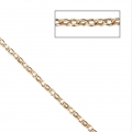 Oval mesh chain 1.5 mm - 3 micron gold plated x50 cm