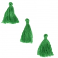Imitation cotton tassels 26-30 mm Dark Green x10