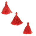 Imitation cotton tassels 26-30 mm Red x10