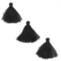 Imitation cotton tassels 26-30 mm Black x10