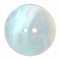 Mother-of-pearl Round button 11 mm Natural x1