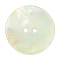 Mother-of-pearl Round button 22 mm Natural x1