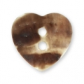 Mother-of-pearl Heart button 12.5x12 mm Natural x1