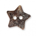 Mother-of-pearl Star button 13x12 mm Natural x1