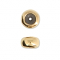 Metal stopper bead 5.9 mm with 2 mm hole Gold Tone x1