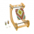 Inclined beading loom for DIY jewels creation