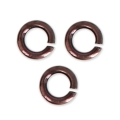Round metal jumprings open 5x1 mm Chocolate Tone x50