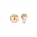 Ball metal earstuds with a loop 3.5 mm Chocolate Tone x2