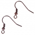 Metal earwires 19 mm Chocolate Tone x2