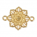 Metal spacer 2 Loops Flower 27 mm Gold Tone x1