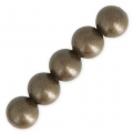 Round brass beads 8 mm Bronze Tone x20