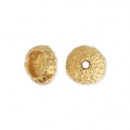 Metal sea urchin bead 11x5 mm for jewelry creation - Gold Tone x1