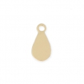 Metal drop charm 7 x 4 mm Matte Gold Tone x 4