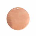 Copper round pendant base for enamel Powder Efcolor 42 mm x1
