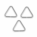 925 Sterling Silver jumprings open triangle-shape - Made in Europe - 8.2x7.6x0,76 mm x10
