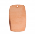 Copper rectangular pendant base for enamel Powder Efcolor 51x32 mm x1